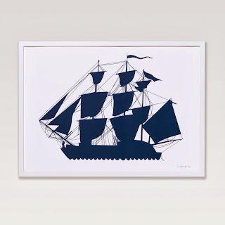 Unison Home sailing ship print