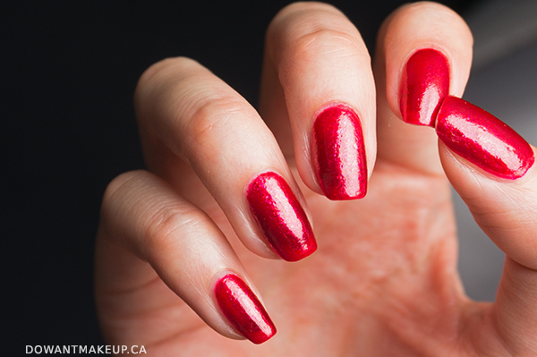 Nicole by OPI I Love You Cherry Much swatches