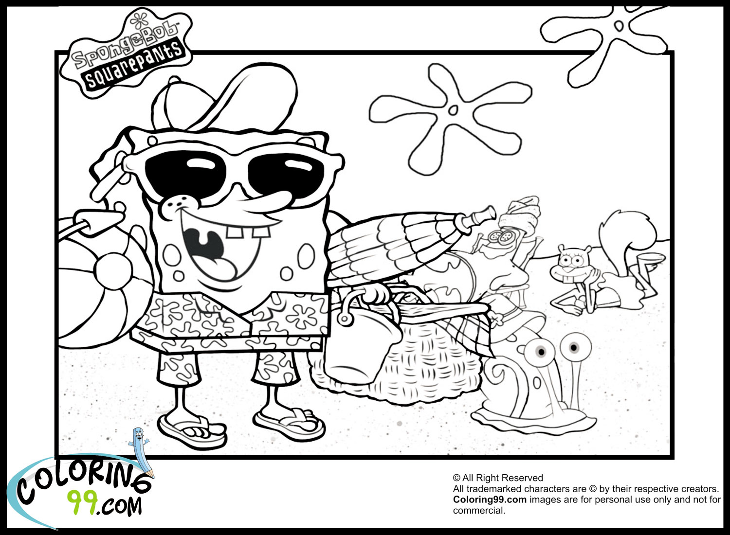 spongebob coloring pages images lego - photo#8