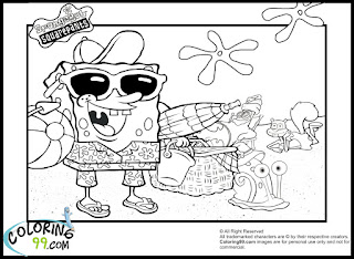 free download spongebob coloring pages