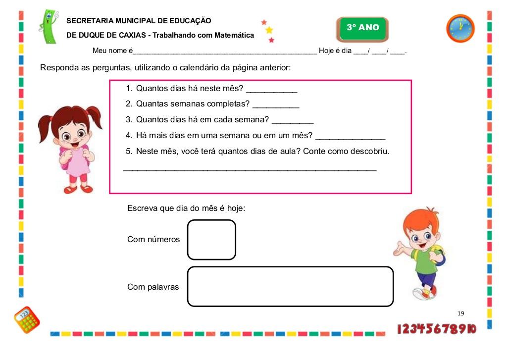 Extremamente Caderno de Atividades Pedagógicas 3º ano - [Parte II] | Atividades  DF24
