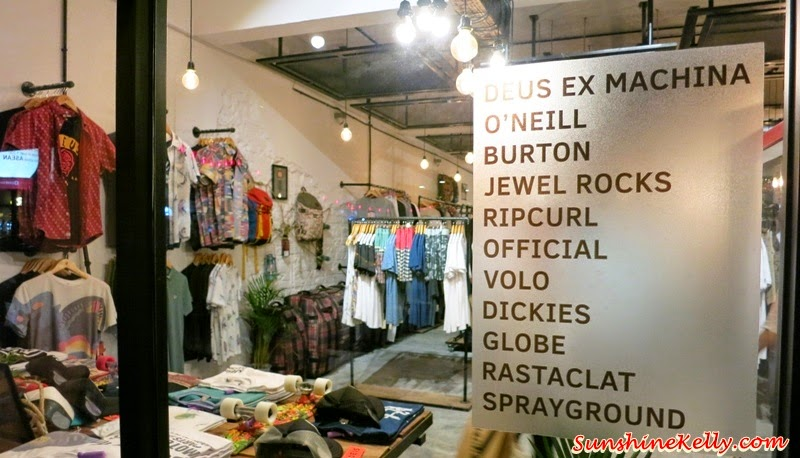 VENUE, Bangsar, Kuala Lumpur, multi label store, Deus Ex Machina, Rastaclat, O'Neill, Official Crown of Laurel, Sprayground, Rip Curl Surf Craft, Burton, VoLo, Globe, Dickies
