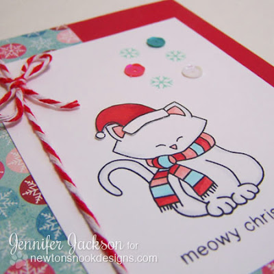 Meowy Christmas Kitty Card by Newton's Nook Designs!