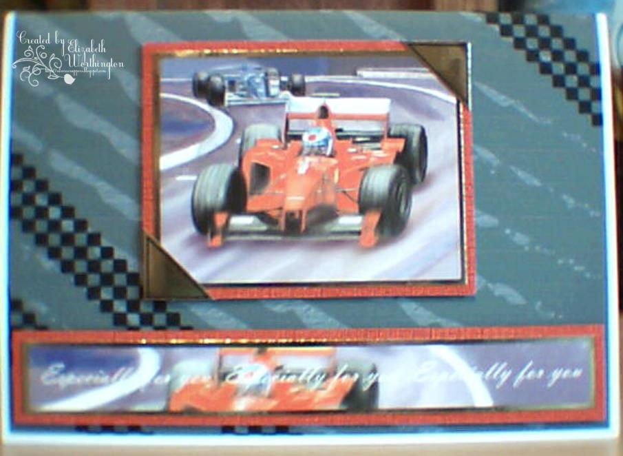 The Silverscrappers Craft Space F1 Racing Birthday Card For A Grandson