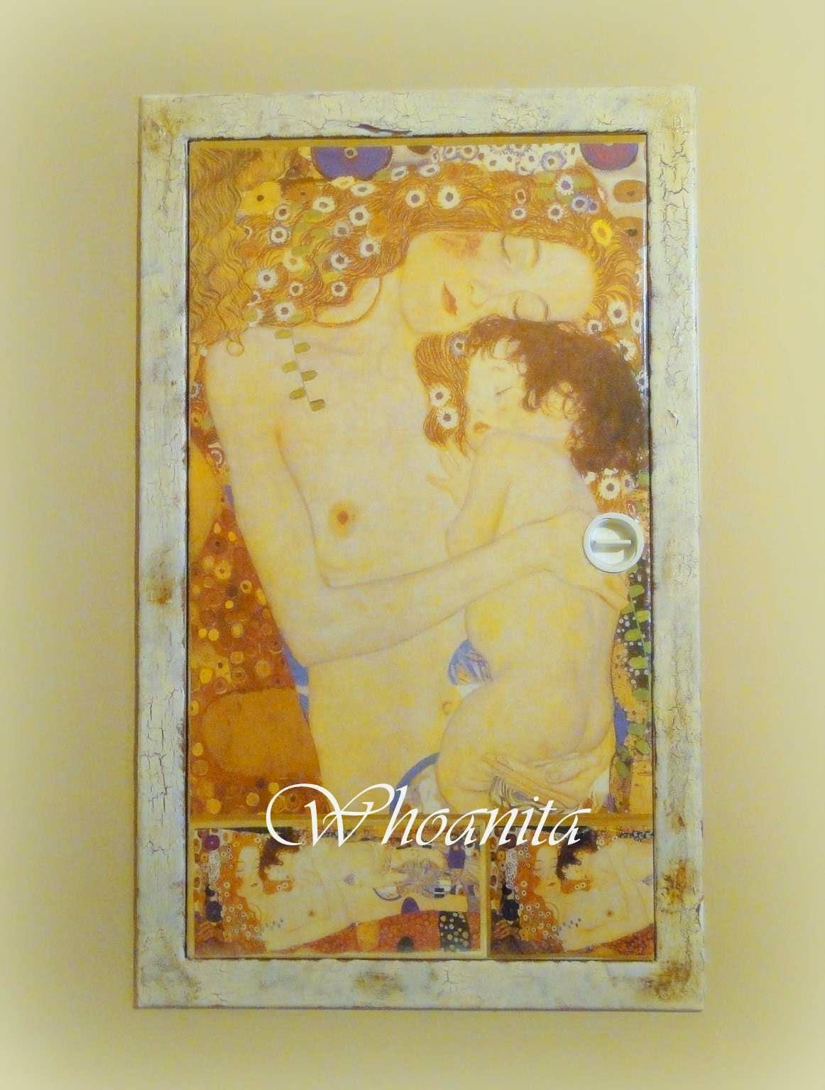 szafka na bezpieczniki a la Klimt, decoupage