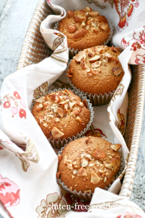 Gluten free vegan orange almond muffins