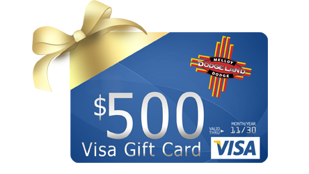 Melloy dodge purchase any vehicle and receive a 500 visa gift card get a 500 visa gift card with any vehicle purchase negle Choice Image