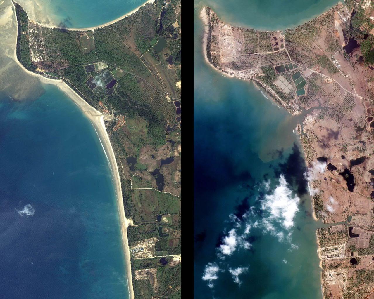 imagen del tsunami:
