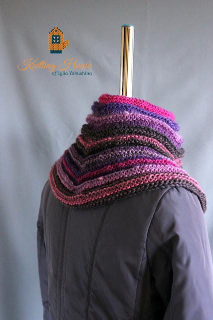 Хомут, шарф, манишка, снуд, снуд связан спицами, снуд из шерстяной пряжи, разноцветный снуд, снуд купить, снуд закзать