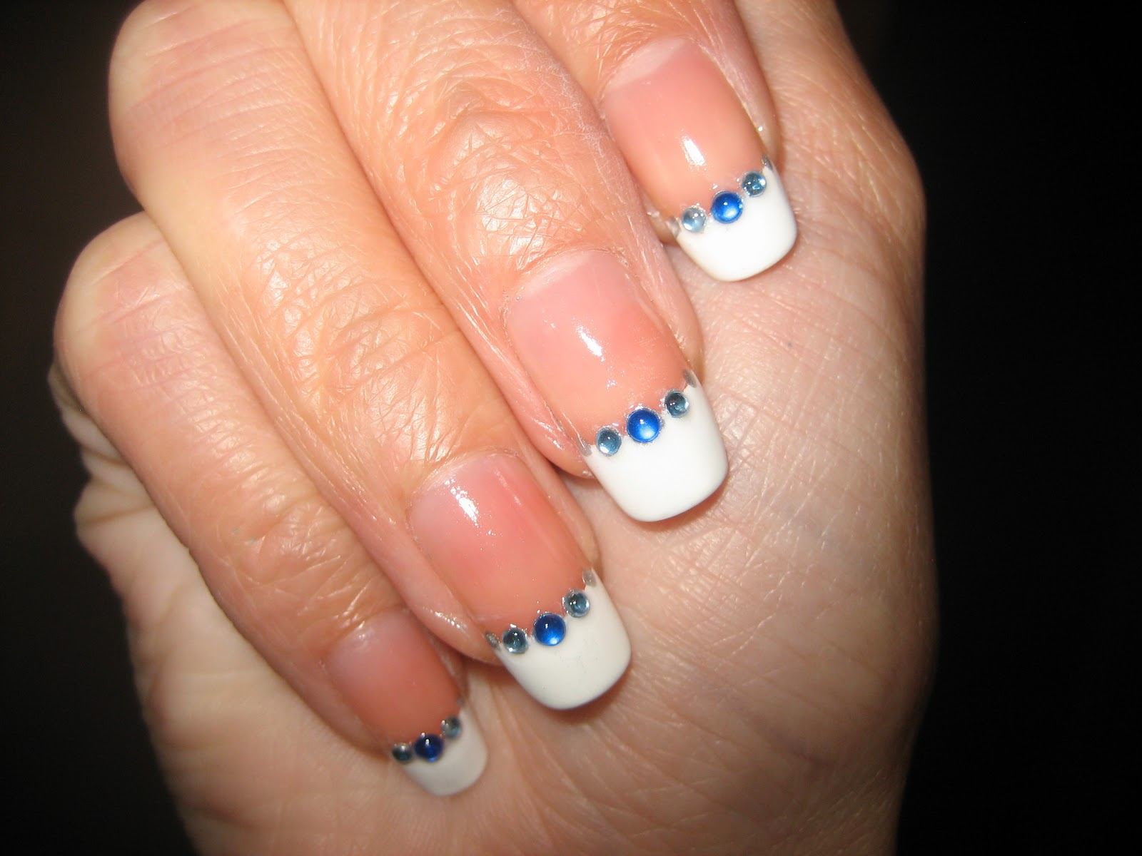 Awesome Nails By Nicole NOTD Rhinestone French Manicure