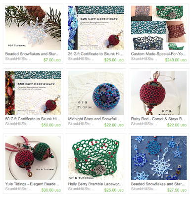 Karen Williams'  Holiday Collection on Etsy: Skunk Hill Studio