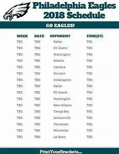 2018 Eagles' Opponents