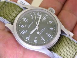 HAMILTON MILITARY KHAKI MECHANICAL GREEN DIAL - MANUAL WINDING