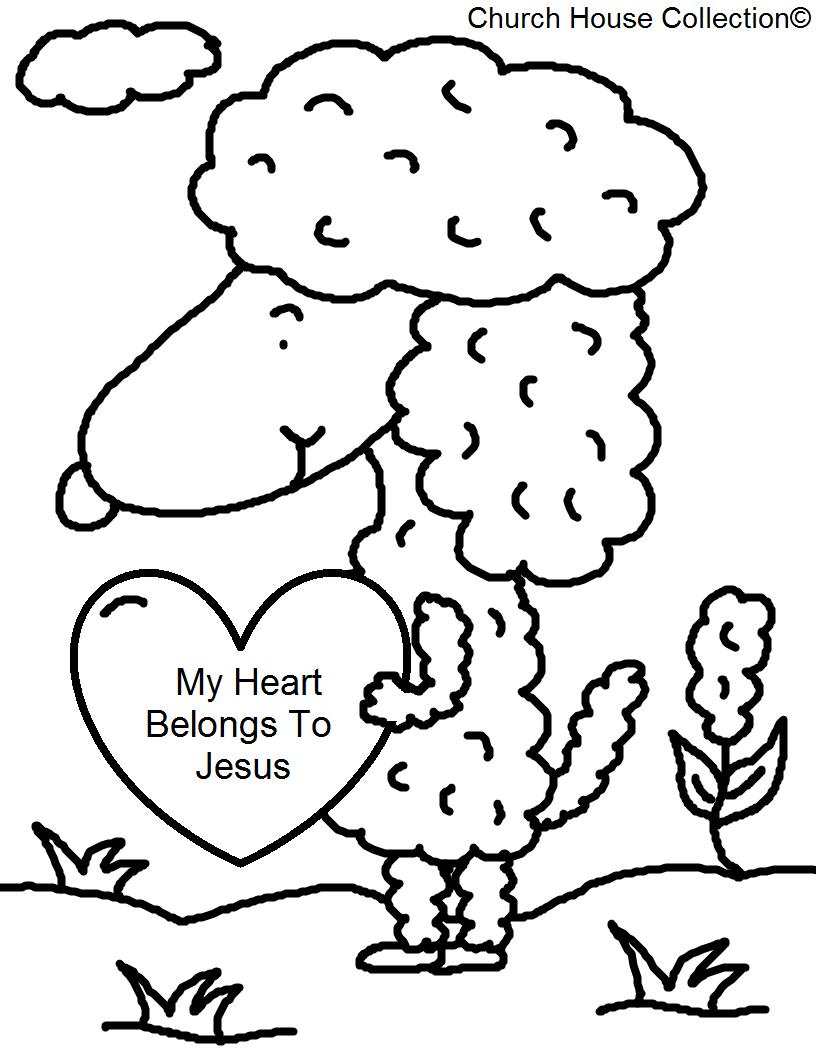 My Heart Belongs To Jesus Coloring Page