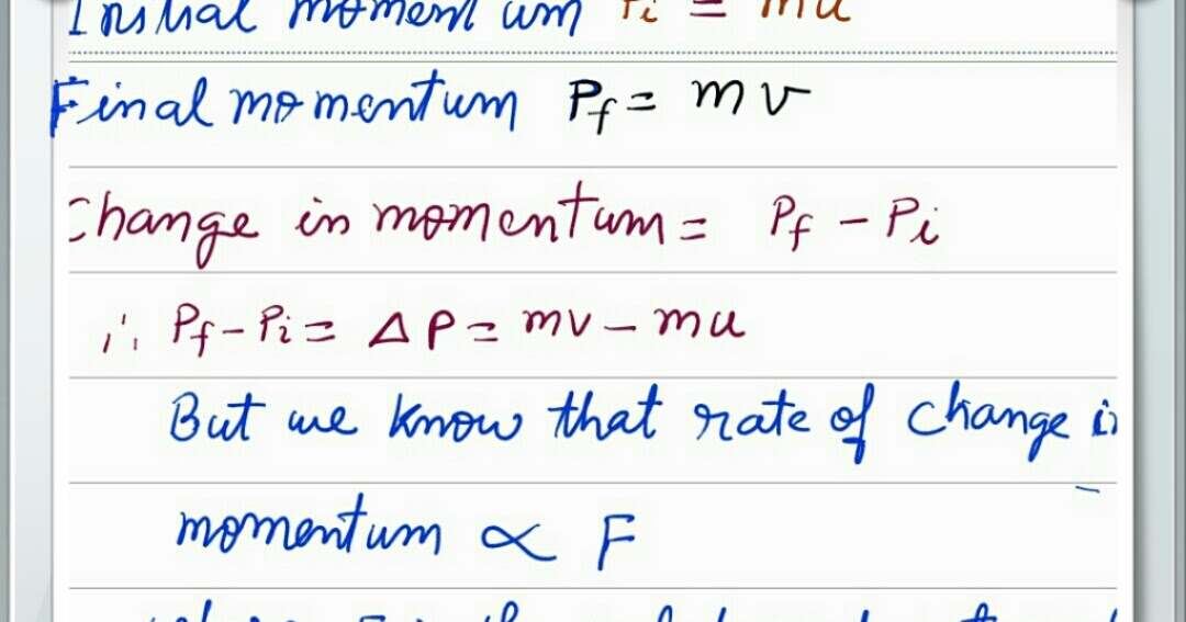 newton second law of motion essay Isaac newton's laws of motion were first set down in his principia mathematica  philosophiae naturalis in 1687 the first law states that an.