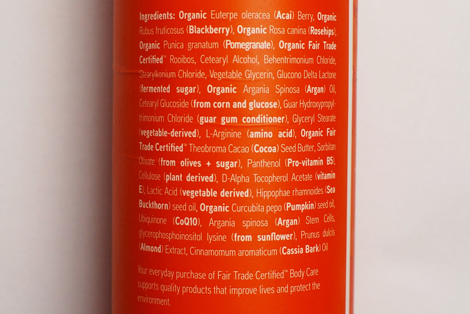 Acure Moroccan Argan Oil Conditioner Ingredients