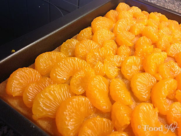Mandarinen schmand kuchen rund