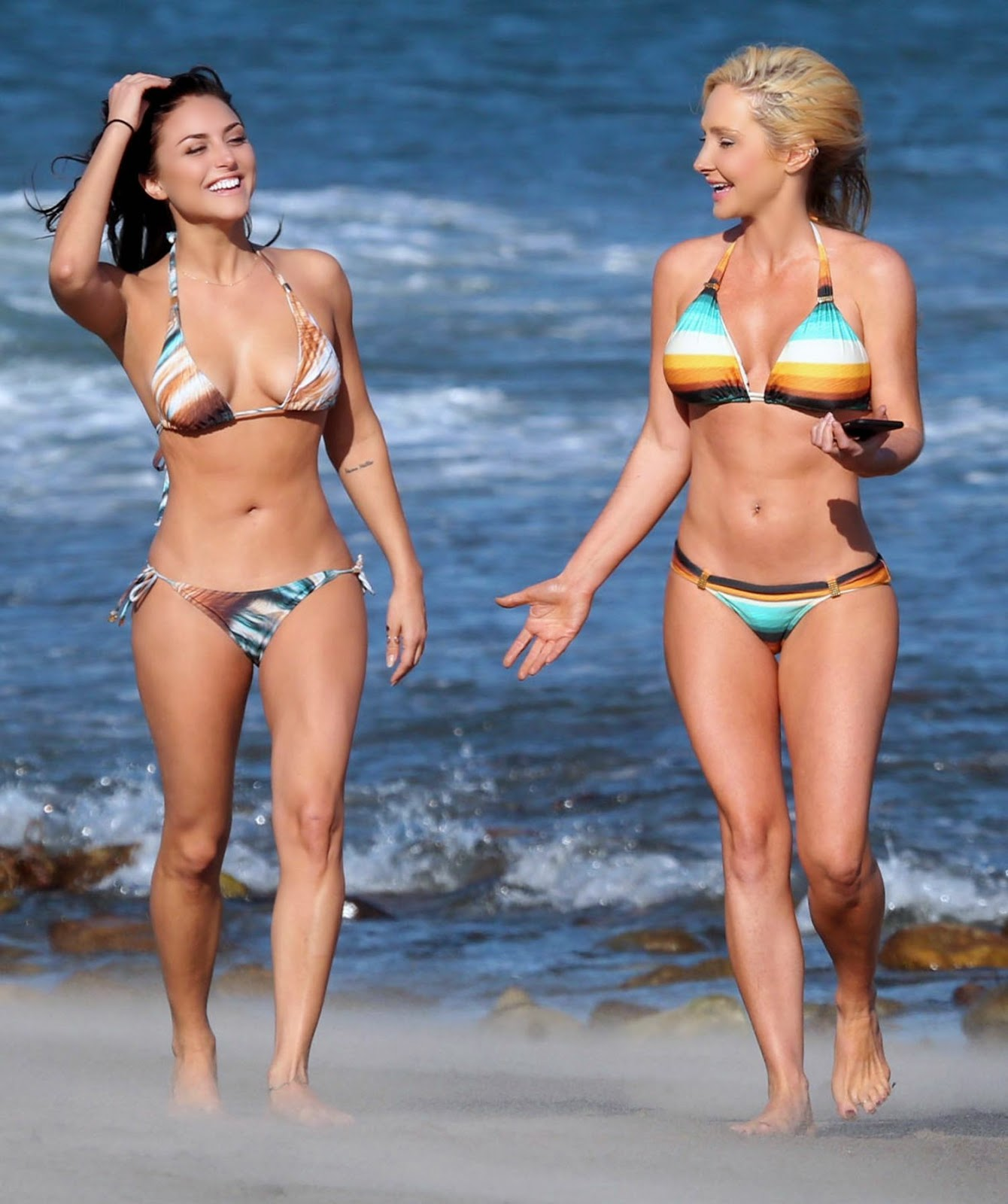 Cassie Scerbo flaunts bikini body at a beach in Malibu