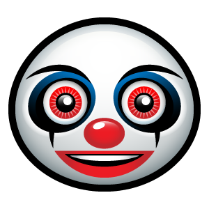 Creepy clown emoticon