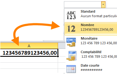 Afficher nombre décimal