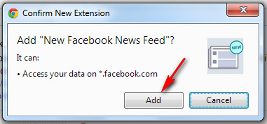 Add New Facebook News Feed