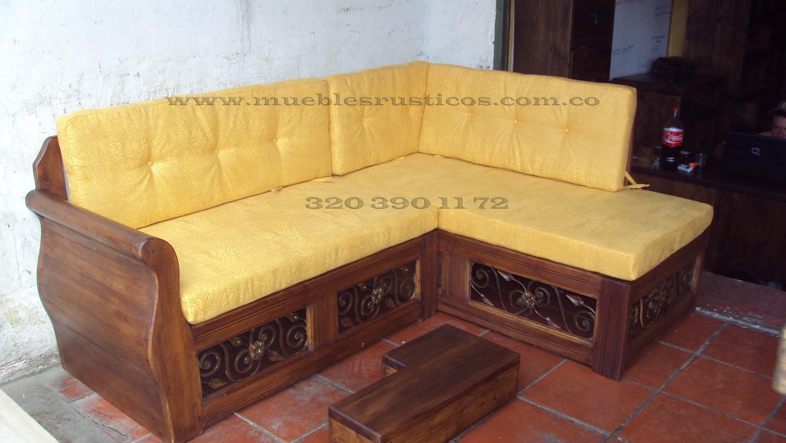 Muebles Rusticos Bogota Sala En Madera