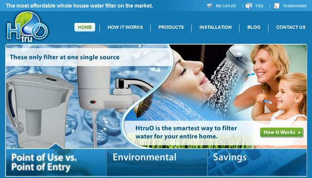The HtruO Whole House Water Filtration System removes chlorine