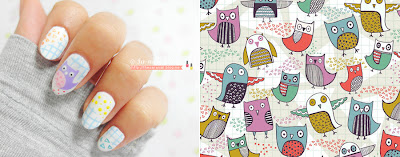 CUTE OWL Nail Art, Light color OWL Nailart, OWL Nail art