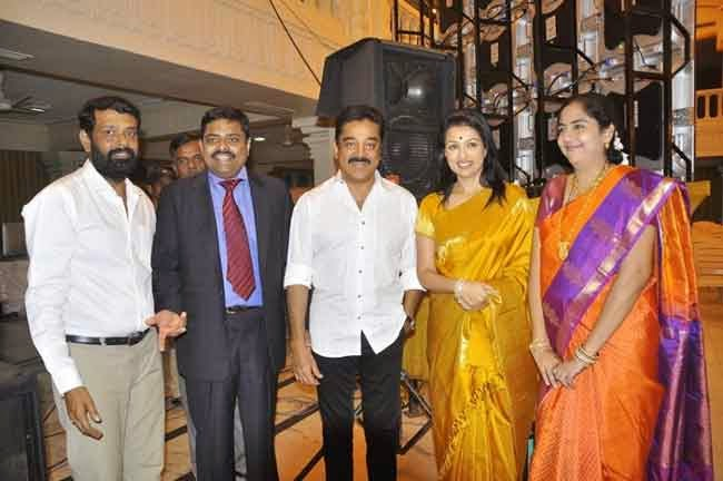 Kamal Hassan and Gouthami at K Balachander's grand daughter wedding