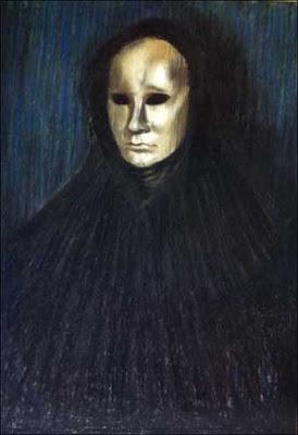 Màscara sobre fons blau (Mariano Gabriel Pérez)