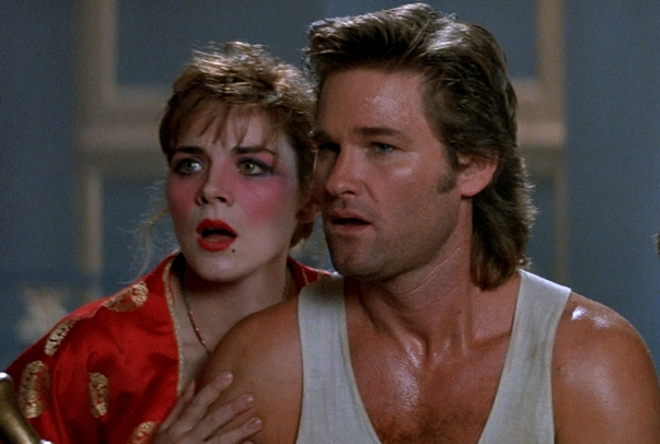 Kim Cattrall and Kurt Russell