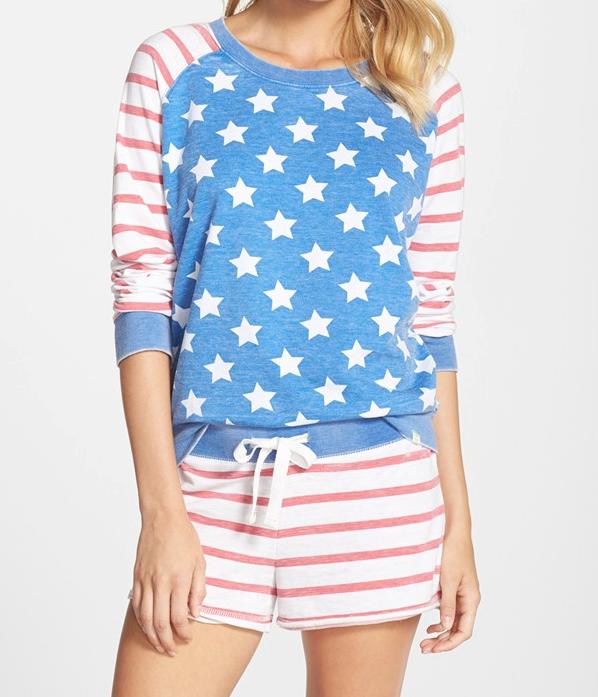 Summer Fashion - stars and stripes sweatshirt