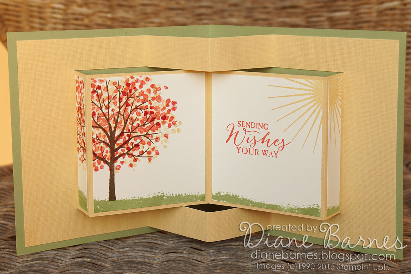 colour me happy: Sheltering Tree pop up book card & template