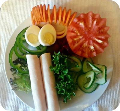 Salad With Spiralled Vegetables