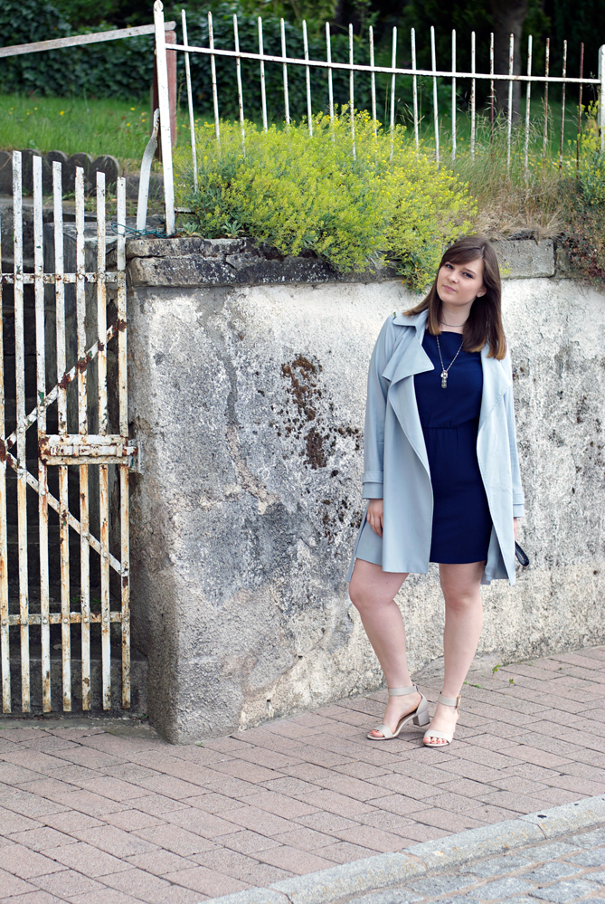baby blue trench coat little dress