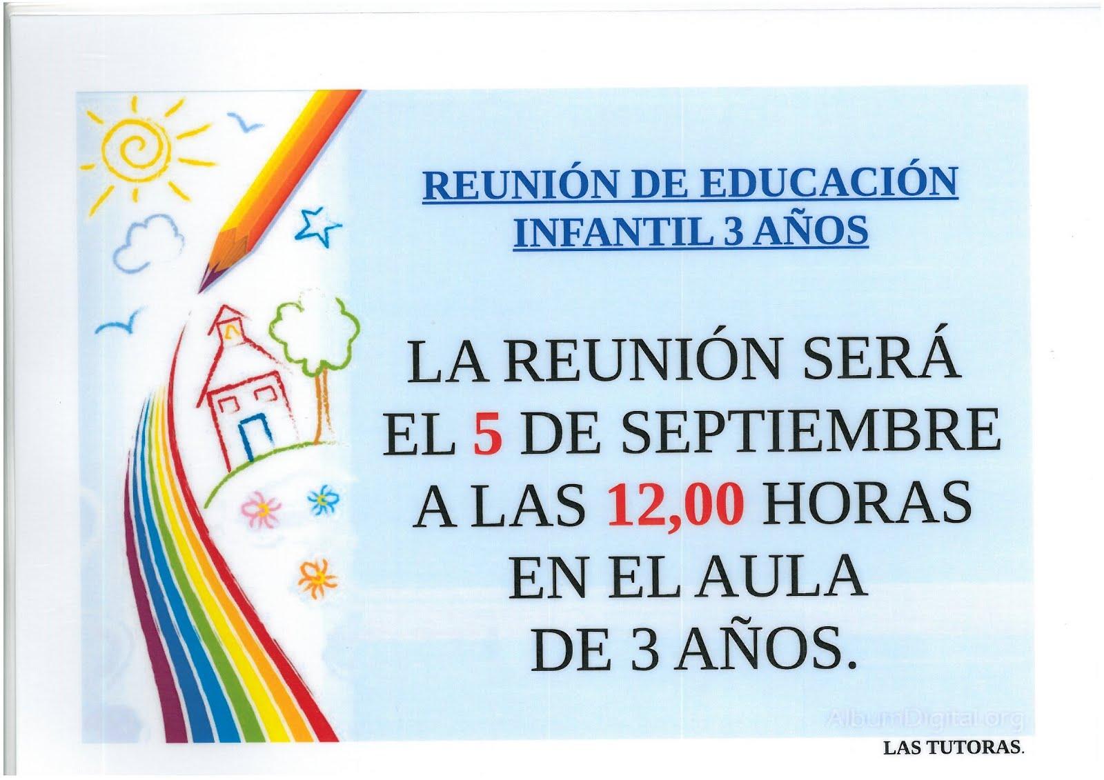 REUNIÓN ALUMNADO NUEVO 3 AÑOS