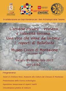 bellafonte, pozzo etrusco-romano, laboratorio di restauro, museo civico,