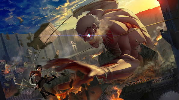 Mikasa vs Armored Titan 9b