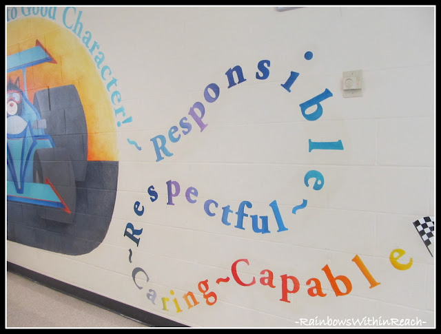 photo of: Elementary School Mural on Character Traits