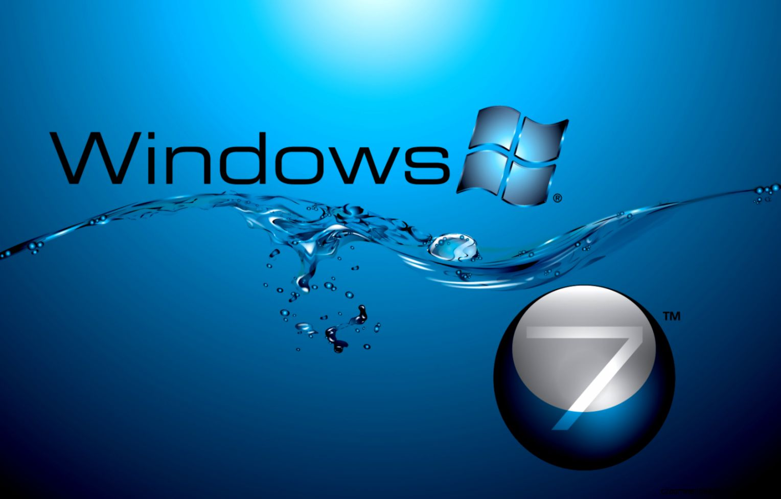 Windows 7 in Water  Free HD Wallpapers for Desktop iPad