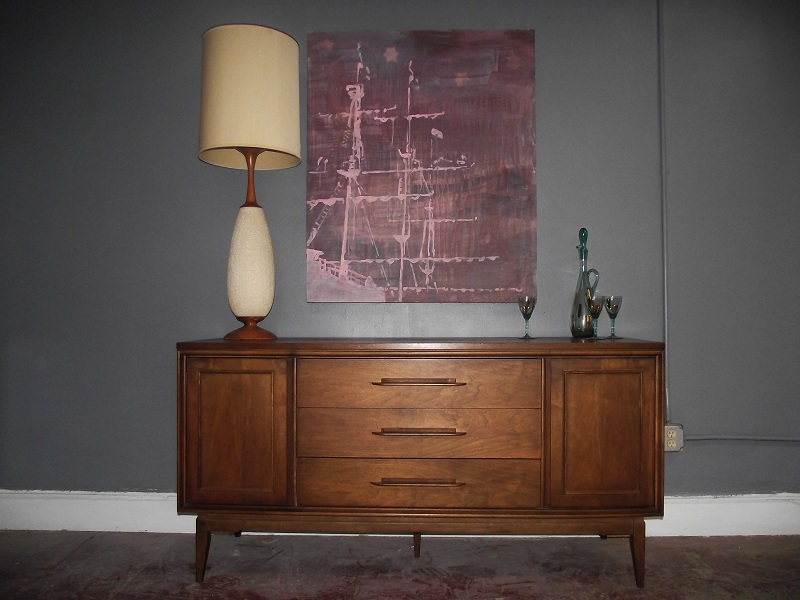 Vintage Ground Mid Century Buffet Credenza Sideboard