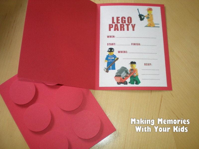 Lego Birthday Party The Invitations Making Memories With Your Kids