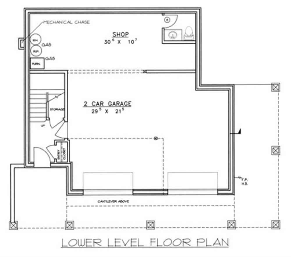 Planos y fachada de una vivienda dise ada en 3 pisos con for Niveles en planos arquitectonicos