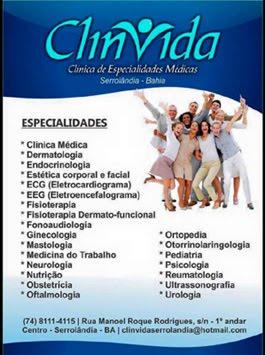 Clinvida - Serrolândia (74) 8111-4115