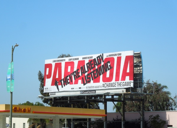 Paranoia movie billboard