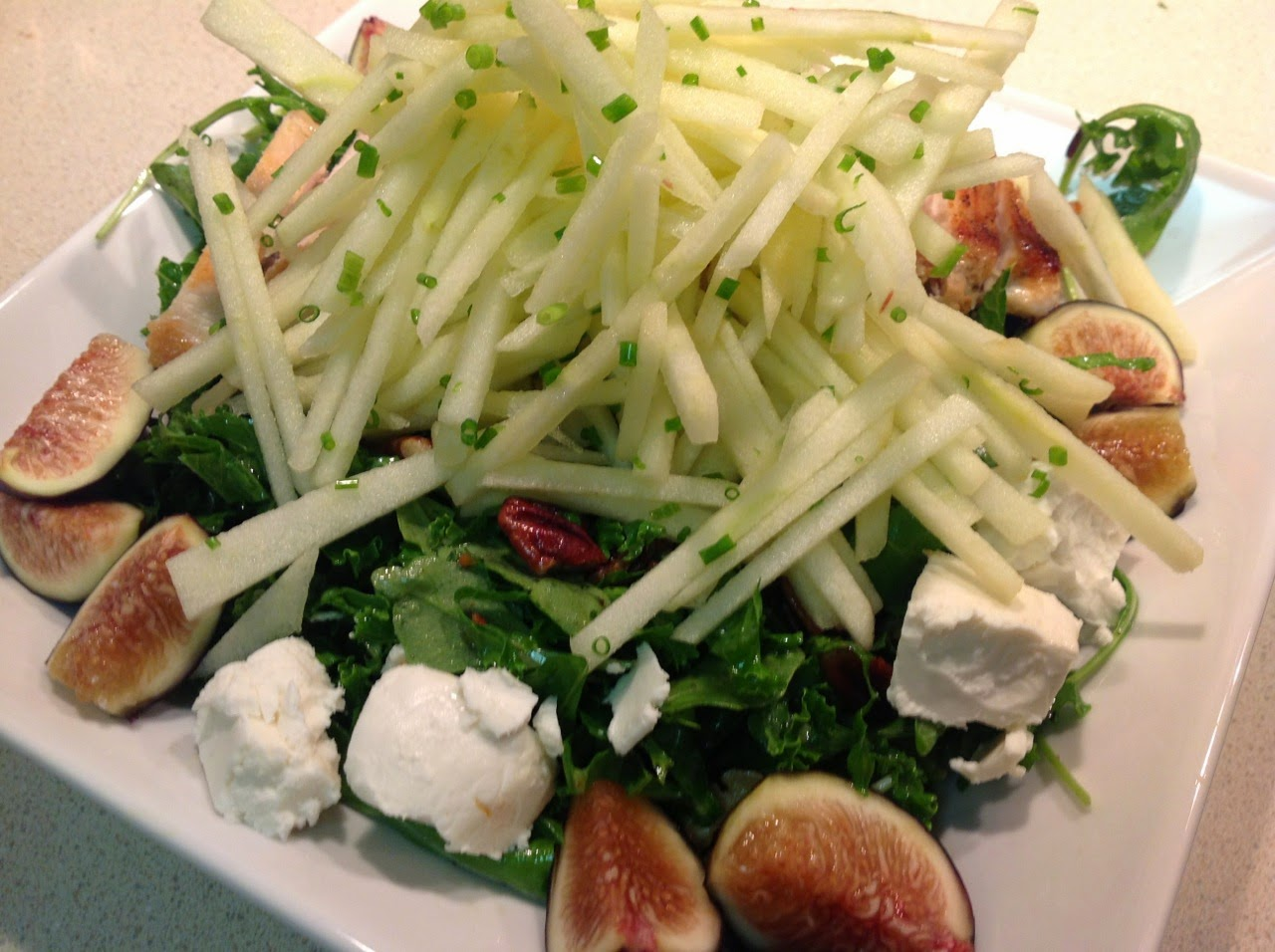 Kale, Fig and Apple Salad
