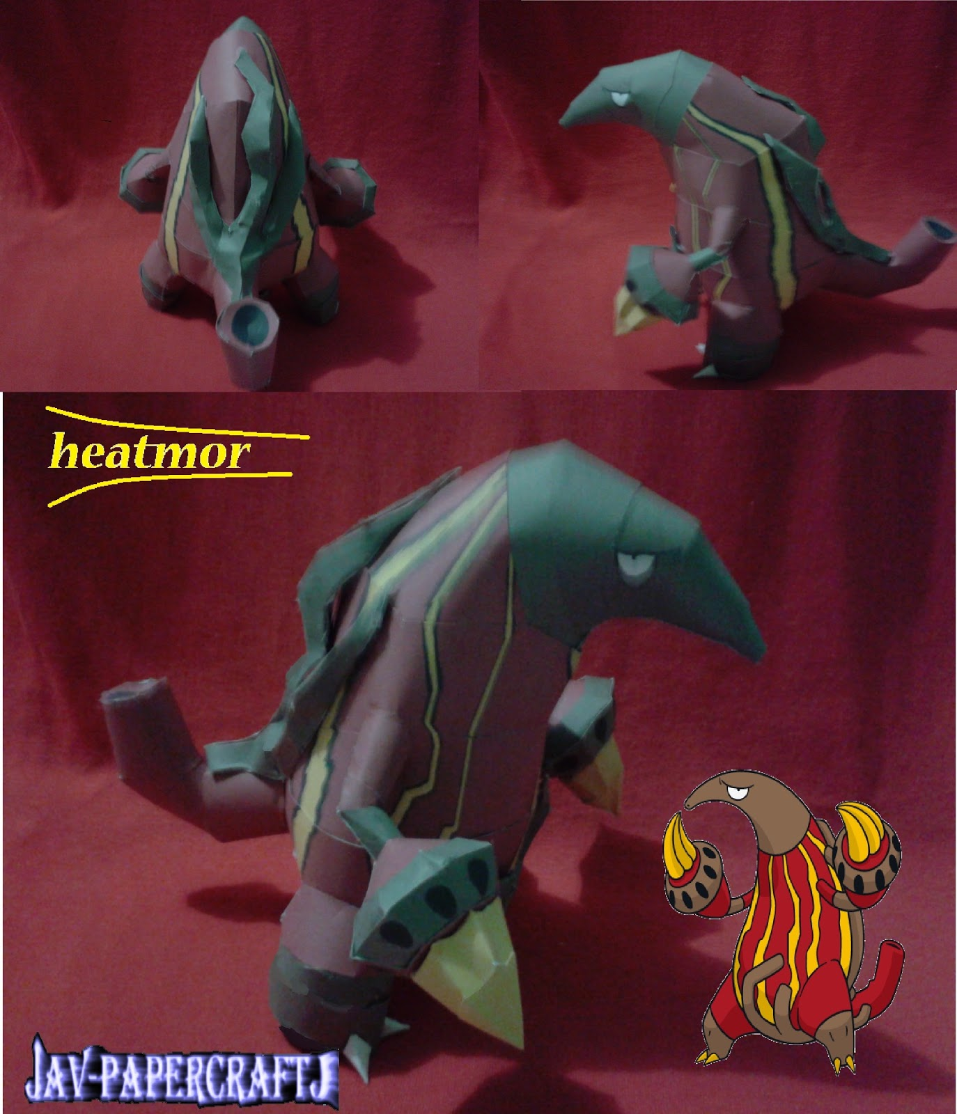 Pokemon Heatmor Papercraft