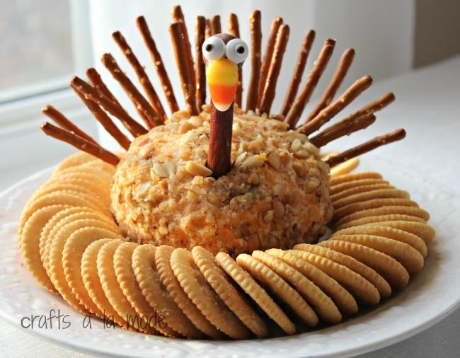 Thanksgiving Turkey Cheese Ball Crafts A La Mode