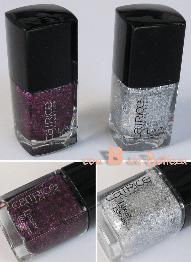 Esmaltes de uñas con purpurina cubrientes