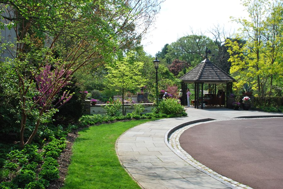 Chanticleer's entrance pavilion for the summer months.